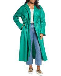Halogen Halogen Elongated Cotton Overcoat - Blue