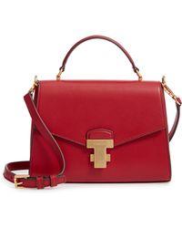 02234de5fe3a Lyst - Tory Burch Juliette Mini Patent Top-handle Bag in Blue