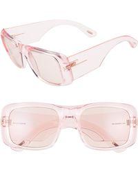 e7fde57e3d4 Tom Ford - Aristotle 56mm Transparent Square Sunglasses - Shiny Pink  Violet  - Lyst