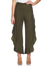 1.STATE - Ruffled Wide-leg Pants - Lyst