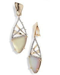 Alexis Bittar - Crystal Crosshatch Lucite Earrings - Lyst