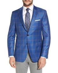 Peter Millar - Classic Fit Plaid Wool Sport Coat - Lyst