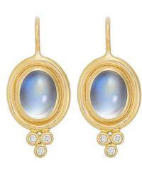 Temple St. Clair - Temple St. Clair Semiprecious Stone & Diamond Drop Earrings - Lyst