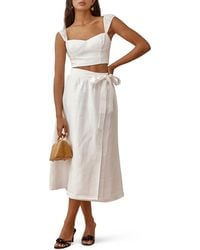 Reformation Clyde Two-piece Linen Dress - White