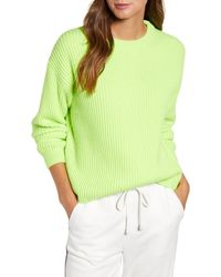 Lou & Grey Cropped Sweater - Green