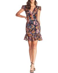 Dress the Population Corinne Sequin Embroidered Cocktail Dress