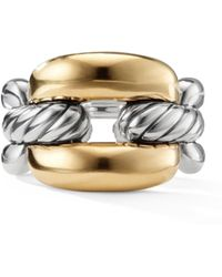 David Yurman - Wellesley Link Chain Link Ring With 18k Gold - Lyst