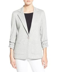 Bailey 44 - 'jane' Ruched Sleeve Knit Blazer - Lyst