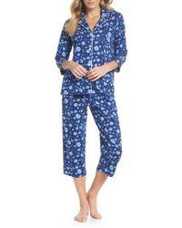 Lauren by Ralph Lauren - Cropped Pajamas - Lyst