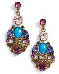 Sorrelli - Edelweiss Crystal Drop Earrings - Lyst