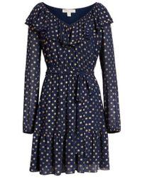 MICHAEL Michael Kors - Sun Print Ruffle Dress - Lyst