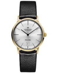 Hamilton - American Classic Intra-matic Automatic Leather Strap Watch - Lyst