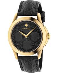 ccb8debbe6e Lyst - Gucci Ya126444 Timeless Stainless Steel in White