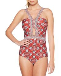 Laundry by Shelli Segal - Butterfly Twin Cutout One-piece Swimsuit - Lyst