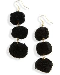 Shiraleah January Pom Earrings - Black