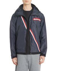 Moncler - Trakehner Logo Stripe Hooded Nylon Jacket - Lyst