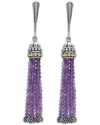Lagos - Caviar Icon Tassel Drop Earrings - Lyst