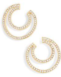 Vince Camuto - Curved Hoop Earrings - Lyst