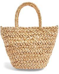 TOPSHOP Rhodes Mini Straw Tote Bag - Multicolor