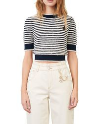 Maje Stripe Crop Sweater - Multicolour