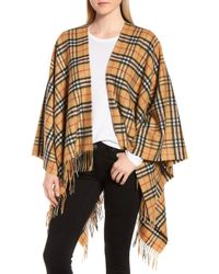 Burberry - Vintage Check Cashmere & Wool Cape - Lyst