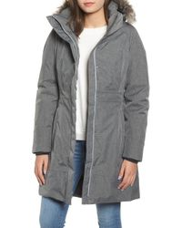 The North Face Arctic Ii Waterproof 550-fill-power Down Parka With Faux Fur Trim - Gray