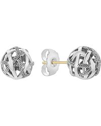 Lagos - Signature Gifts Sterling Silver Woven Knot Stud Earrings - Lyst