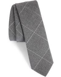 Eleventy - Tattersall Wool Skinny Tie - Lyst