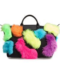 Longchamp - X Jeremy Scott Faux Fur Travel Bag - Lyst