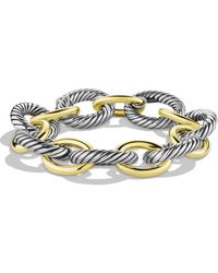 David Yurman Oval Extra Large Link Bracelet With Gold - Metallic