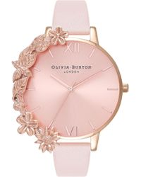 Olivia Burton - Leather Strap Watch - Lyst