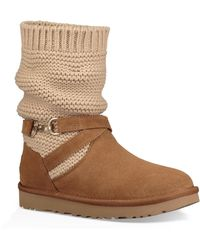 b6fef47c049 Lyst - UGG Chaney Uggpure(tm) Moto Boot in Brown