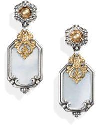Konstantino Hestia Shield Drop Earrings - Metallic