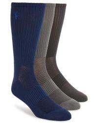 Polo Ralph Lauren | Tech Athletic Crew Socks | Lyst