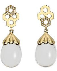 Temple St. Clair - Beehive Amulet Diamond Pave Earrings - Lyst