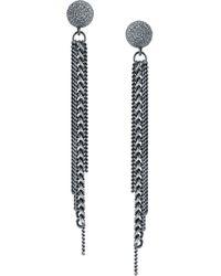 Sheryl Lowe - Fringe Earrings With Diamonds - Lyst