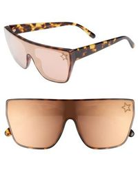 Stella McCartney - 99mm Flat Top Sunglasses - Blonde Avana - Lyst