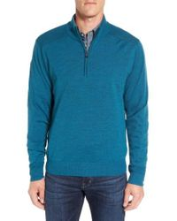 Cutter & Buck - 'douglas' Quarter-zip Wool Blend Sweater - Lyst