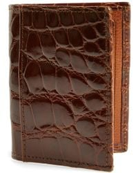 Martin Dingman - 'joseph' Genuine American Alligator Leather Id Wallet - - Lyst