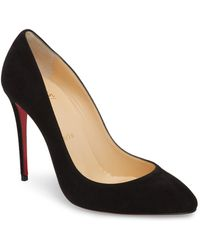 e5d761dfd9d4 Lyst - Christian Louboutin  apostrophy  Pointy Toe Pump in Black