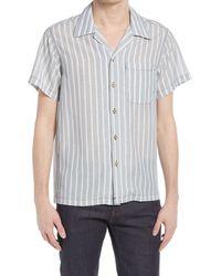 Naked & Famous - Naked & Famous Aloha Stripe Short Sleeve Button-up Shirt - Lyst