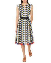 Akris - Diamond Print Cotton Voile Dress - Lyst