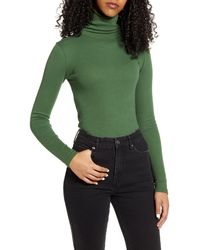 BP. Turtleneck Ribbed Top - Black