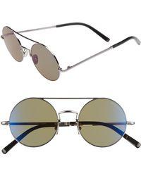 Cutler & Gross - 49mm Polarized Round Sunglasses - - Lyst