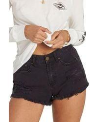 Billabong | Drift Away Distressed Denim Cutoff Shorts | Lyst