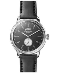 Shinola - Bedrock Leather Strap Watch - Lyst