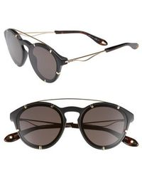 Givenchy - 54mm Round Polarized Sunglasses - - Lyst
