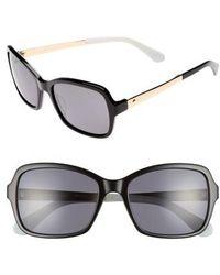Kate Spade - Annjanette 55mm Polarized Sunglasses - - Lyst