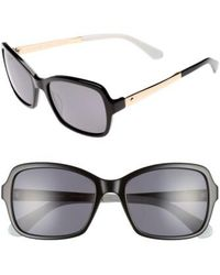 Kate Spade - Annjanette 55mm Polarized Sunglasses - Lyst