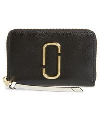 Marc Jacobs - Small Snapshot Leather Zip-around Wallet - - Lyst